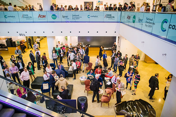 Busy crowds gathered at National Freelancers Day
