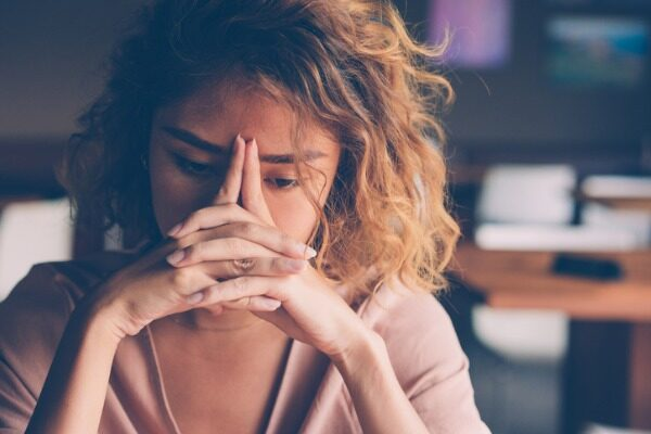 Freelancer who appears stressed