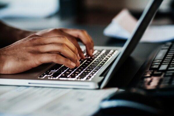 Freelancer using social media